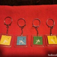 Coleccionismo de llaveros: 4 LLAVEROS BASF DEPORTES. OLIMPIADAS MÚNICH 1972. Lote 246799455