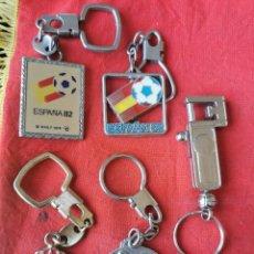 Coleccionismo de llaveros: LOTE 5 LLAVEROS MUNDIAL DE FÚTBOL ESPAÑA 82... Lote 246827070