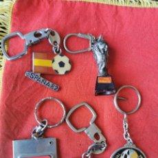 Coleccionismo de llaveros: LOTE 5 LLAVEROS MUNDIAL DE FÚTBOL ESPAÑA 82.. Lote 246827590