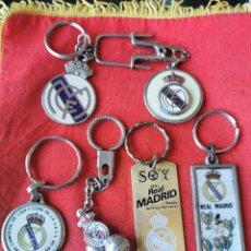 Coleccionismo de llaveros: 6 LLAVEROS ANTIGUOS DE FÚTBOL REAL MADRID. Lote 246830130