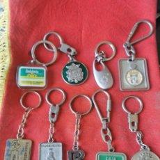 Coleccionismo de llaveros: LOTE DE 9 LLAVEROS ANTIGUOS DE BANCOS. 1. Lote 246875430