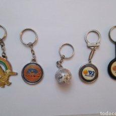 Coleccionismo de llaveros: LOTE DE 5 LLAVEROS DE LA EXPO ' 92 SEVILLA. Lote 247621560