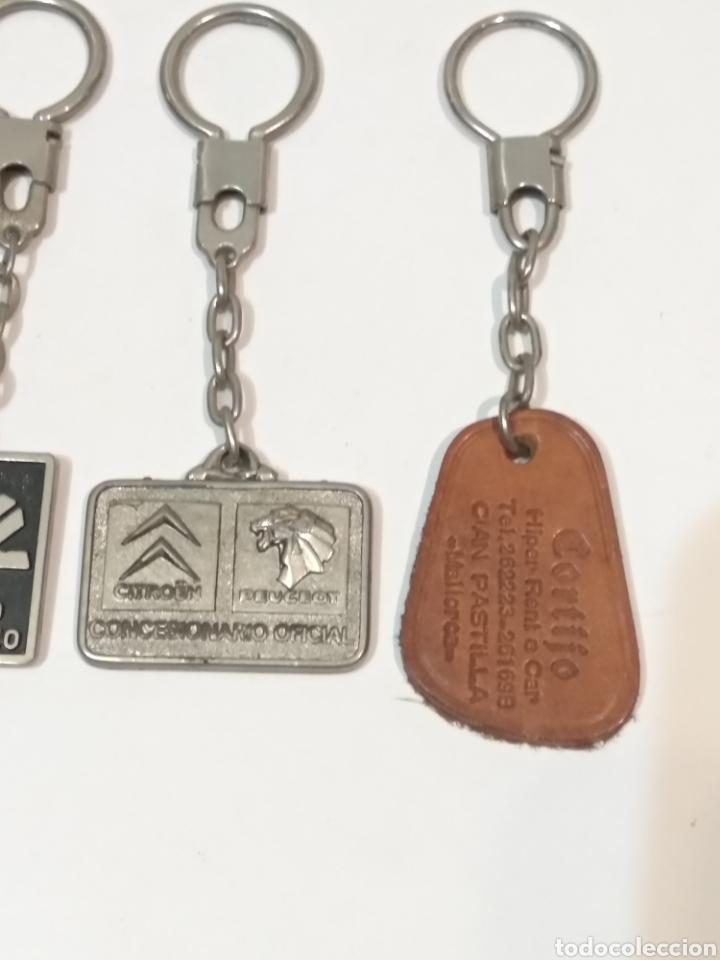 Coleccionismo de llaveros: CUATRO LLAVEROS DE PUBLICIDAD - PEUGEOT CITROËN BANCO HISPANO AMERICANO RESTAURANTES - Foto 3 - 249350365