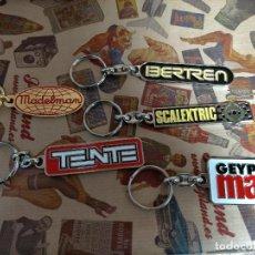 Collectionnisme de portes-clés: LLAVEROS JUGUETES AÑOS SETENTA TENTE MADELMAN GEYPERMAN IBERTREN SCALEXTRIC GEYPER MAN LOTE COMPLETO. Lote 252426160