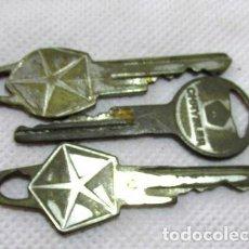 Coleccionismo de llaveros: ANTIGUO LOTE DE LLAVES DODGE Y CHRYSLER AUTOS CAMION L. Lote 255176135