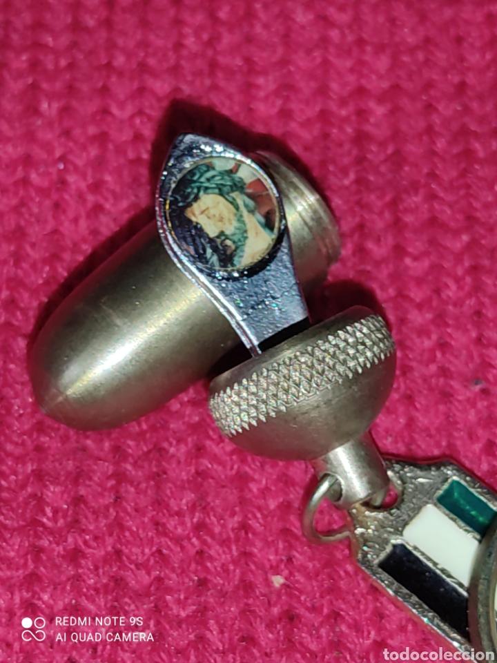 Coleccionismo de llaveros: Llavero bellota de bronce con Jesús. - Foto 2 - 266459578