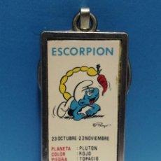 Collectionnisme de portes-clés: LLAVERO ANTIGUO PITUFO HORÓSCOPO SCORPION. Lote 266982014