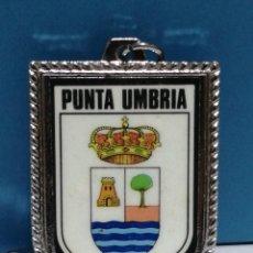 Collezionismo di Portachiavi: LLAVERO ESCUDO PUNTA UMBRIA HUELVA. Lote 266982164