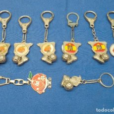 Collectionnisme de portes-clés: LOTE DE 8 LLAVEROS DE NARANJITO, MUNDIAL ESPAÑA 82, AGULA D ESAN JUAN, VALENCIA C.F, GRANADA.. Lote 267496199