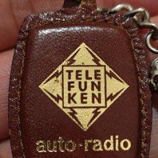 Coleccionismo de llaveros: TELEFUNKEN RADIO AUTO LLAVERO VINTAGE ANTIGUO ORIGINAL PIEL 5 X 3 CMS APROX. Lote 267893914