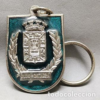 LLAVERO DE METAL ESMALTADO RECUERDO DE CARTAGENA CIUDAD ACOGEDORA - LLAV-13995 - B-436 (Coleccionismo - Llaveros)