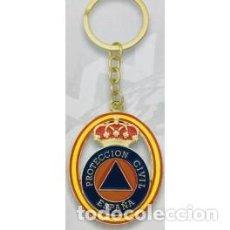 Coleccionismo de llaveros: LLAVERO OVALADO PROTECCIÓN CIVIL. Lote 269058123