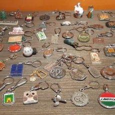 Coleccionismo de llaveros: LOTE DE 54 LLAVEROS VINTAGE PUBLICIDAD VARIADA (VER FOTOS). Lote 269067878