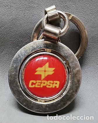 LLAVERO DE METAL ESMALTADO CEPSA - LLAV-14009 - B-436 (Coleccionismo - Llaveros)