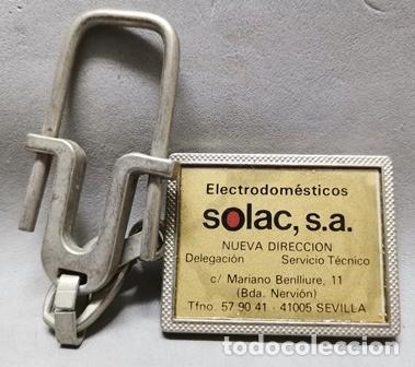 LLAVERO DE METAL ELECTRODOMESTICOS SOLAC, S.A., SEVILLA - LLAV-14011 - B-436 (Coleccionismo - Llaveros)