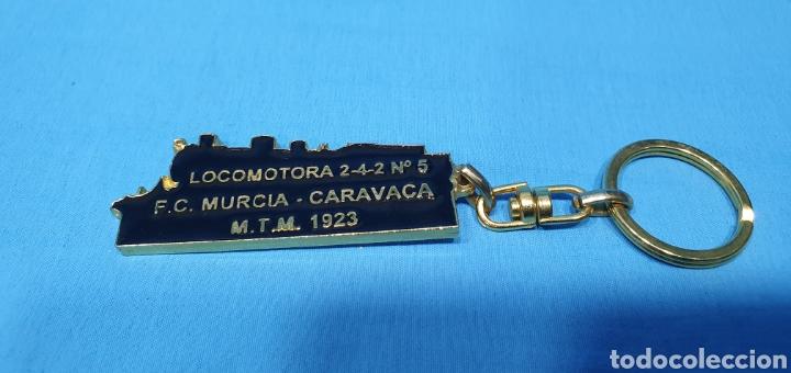 Coleccionismo de llaveros: LLAVERO DE LA RENFE - LOCOMOTORA 2-4-2 N° 5 - F.C. MURCIA - CARAVACA M.T.M. 1923 - Foto 4 - 269082083