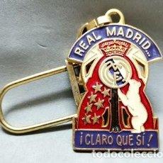 Coleccionismo de llaveros: LLAVERO DE METAL ESMALTADO REAL MADRID CLARO QUE SI - A-LLAV-14599 - B-468. Lote 278702188