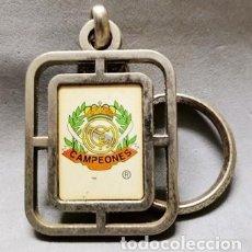 Coleccionismo de llaveros: LLAVERO DE METAL ESMALTADO REAL MADRID CAMPEONES - A-LLAV-14611 - B-468. Lote 278705103