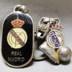 Coleccionismo de llaveros: LLAVERO DOBLE DE METAL ESMALTADO DEL REAL MADRID - A-LLAV-14617 - B-468. Lote 278706098