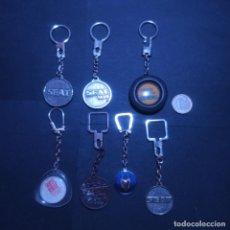 Colecionismo de porta-chaves: LOTE 7 LLAVEROS - TEMATICA MARCA SEAT. Lote 282579468
