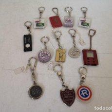 Colecionismo de porta-chaves: LOTE DE 12 LLAVEROS, CON PUBLICIDAD Y OTROS. Lote 287059463