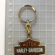 Coleccionismo de llaveros: LLAVERO HARLEY DAVIDSON METALICO Y GOMA. Lote 290006338