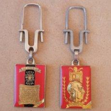 Coleccionismo de llaveros: LOTE 2 LLAVEROS FRANCO PRIMO DE RIVERA FALANGE. Lote 293893818