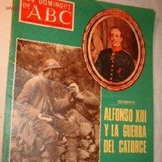 Collectionnisme de Los Domingos de ABC: REVISTA -LOS DOMINGOS DE ABC- NOVIEMBRE 1976 EN PORTADA ALFONSO XIII Y LA GUERRA DEL CATORCE.. Lote 828578