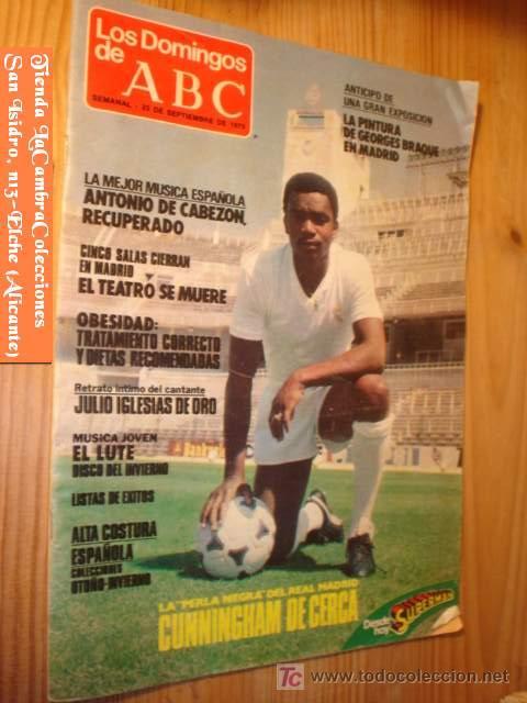 REVISTA LOS DOMINGOS DE ABC 23 DE SEPTIEMBRE 1979 PORTADA CUNNINGHAN DE CERCA. (Coleccionismo - Revistas y Periódicos Modernos (a partir de 1.940) - Los Domingos de ABC)