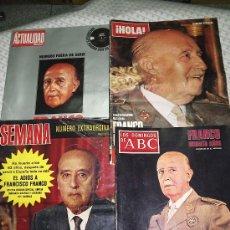 Coleccionismo de Los Domingos de ABC: LOTE 5 REVISTAS SOBRE FRANCO. Lote 6561086