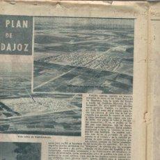 Coleccionismo de Los Domingos de ABC: ABC 1955 DEDICADO AL PLAN BADAJOZ MERIDA EXTREMADURA CANAL DE LOBON MONTIJO AGUA TENERIFE HELMA. Lote 7852736