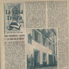 Coleccionismo de Los Domingos de ABC: ABC 1956 DON PRUDENCIO LANDIN CASA DE LA TROYA CABLES TYCSA VAQUERO TURCIOS AMPARO CORES. Lote 7853341
