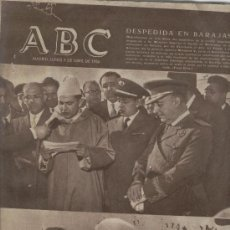 Coleccionismo de Los Domingos de ABC: ABC AÑO 1955 MOHAMED V CENTENARIO TERRY MENEDEZ Y PELAYO FATIMA CINE MUÑOZ SECA. Lote 7855636