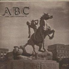 ABC AÑO 1955 INAUGURADO EL MONUMENTO EN LA UNIVERSIDAD DE MADRID BALNEARIO DE MARMOLEJO JAEN DERBI