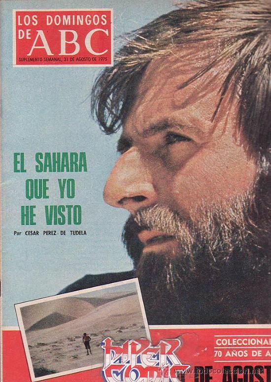 LOS DOMINGOS DEL ABC (1975) PEREZ DE TUDELA, MANOLETE, DIANA ROSS, TRIANGULO DEL DIABLO ( BERMUDAS) (Coleccionismo - Revistas y Periódicos Modernos (a partir de 1.940) - Los Domingos de ABC)