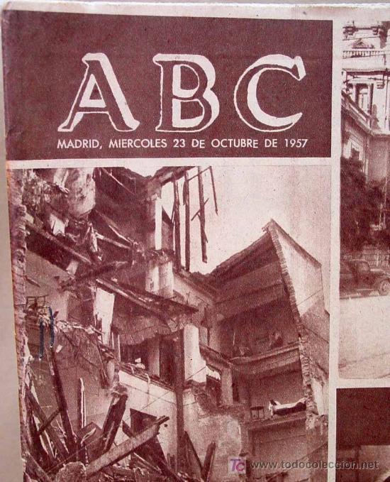 ABC DE 23 DE OCTUBRE DE 1957, RIADA DE VALENCIA (Coleccionismo - Revistas y Periódicos Modernos (a partir de 1.940) - Los Domingos de ABC)