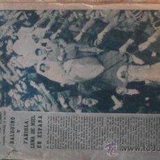 Coleccionismo de Los Domingos de ABC: PERIODICO ABC DEL 16 DE DICIEMBRE DE 1960 --- LUNA DE MIEL EN ESPAÑA DE BALDUINO Y FABIOLA. Lote 25266796