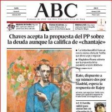 Coleccionismo de Los Domingos de ABC: DIARIO 'ABC', Nº 32185. 16 DE ENERO DE 2004. 'NIÑO CON UNA PIPA' DE PICASSSO EN PORTADA.. Lote 16408068