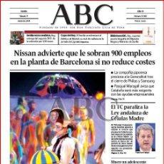 Coleccionismo de Los Domingos de ABC: DIARIO 'ABC', Nº 32186. 17 DE ENERO DE 2004. CIRCO DEL SOL EN PORTADA.. Lote 16408109