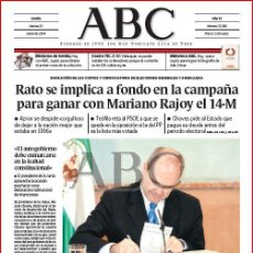 Coleccionismo de Los Domingos de ABC: DIARIO 'ABC', Nº 32189. 20 DE ENERO DE 2004. MANUEL CHAVES EN PORTADA.. Lote 16408204
