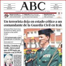 Coleccionismo de Los Domingos de ABC: DIARIO 'ABC', Nº 32192. 23 DE ENERO DE 2004. GUARDIA CIVIL EN PORTADA.. Lote 16408254