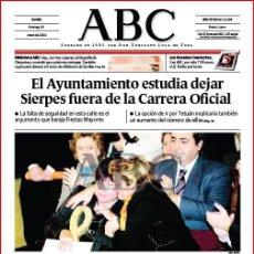 Coleccionismo de Los Domingos de ABC: DIARIO 'ABC', Nº 32194. 25 DE ENERO DE 2004. TERRORISMO EN PORTADA.. Lote 16408313