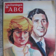 Coleccionismo de Los Domingos de ABC: LOS DOMINGOS DE ABC 1981-07-26 CARLOS Y DIANA LA BODA DEL AÑO. Lote 16486422