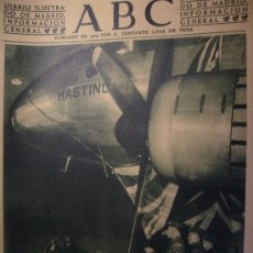 """Coleccionismo de Los Domingos de ABC: ABC 21 SETIEMBRE DE 1946 BAUTIZO DEL AVION """"HASTING. Lote 26314638"""