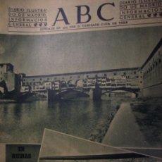 Coleccionismo de Los Domingos de ABC: ABC 10 MARZO 1948 RUINA POR EFECTO DE LOS BOMBARDEO PUENTE DE FLOERENCIA. Lote 26314641