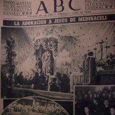 Coleccionismo de Los Domingos de ABC: ABC12 MARZO DE 1948 ADORACION JESUS DE MEDINACELI Dª CARMEN POLO E HIJA. Lote 26314643