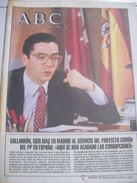 ABC / DOMINGO 8 OCTUBRE 1995 / MADRID (Coleccionismo - Revistas y Periódicos Modernos (a partir de 1.940) - Los Domingos de ABC)