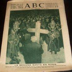 Coleccionismo de Los Domingos de ABC: ABC - 9 ABRIL 1952 - LA SEMANA SANTA EN ROMA. Lote 27481985