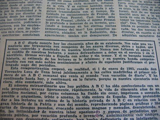 Coleccionismo de Los Domingos de ABC: ABC. AÑO 1955.CINCUENTENARIO DEL DIARIO. - Foto 3 - 27180422