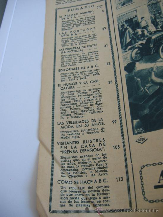 Coleccionismo de Los Domingos de ABC: ABC. AÑO 1955.CINCUENTENARIO DEL DIARIO. - Foto 4 - 27180422